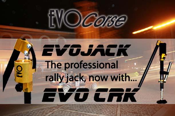 EvoCRK & EvoJack, professionelle hydraulische Rallye Wagenheber von EVOCorse